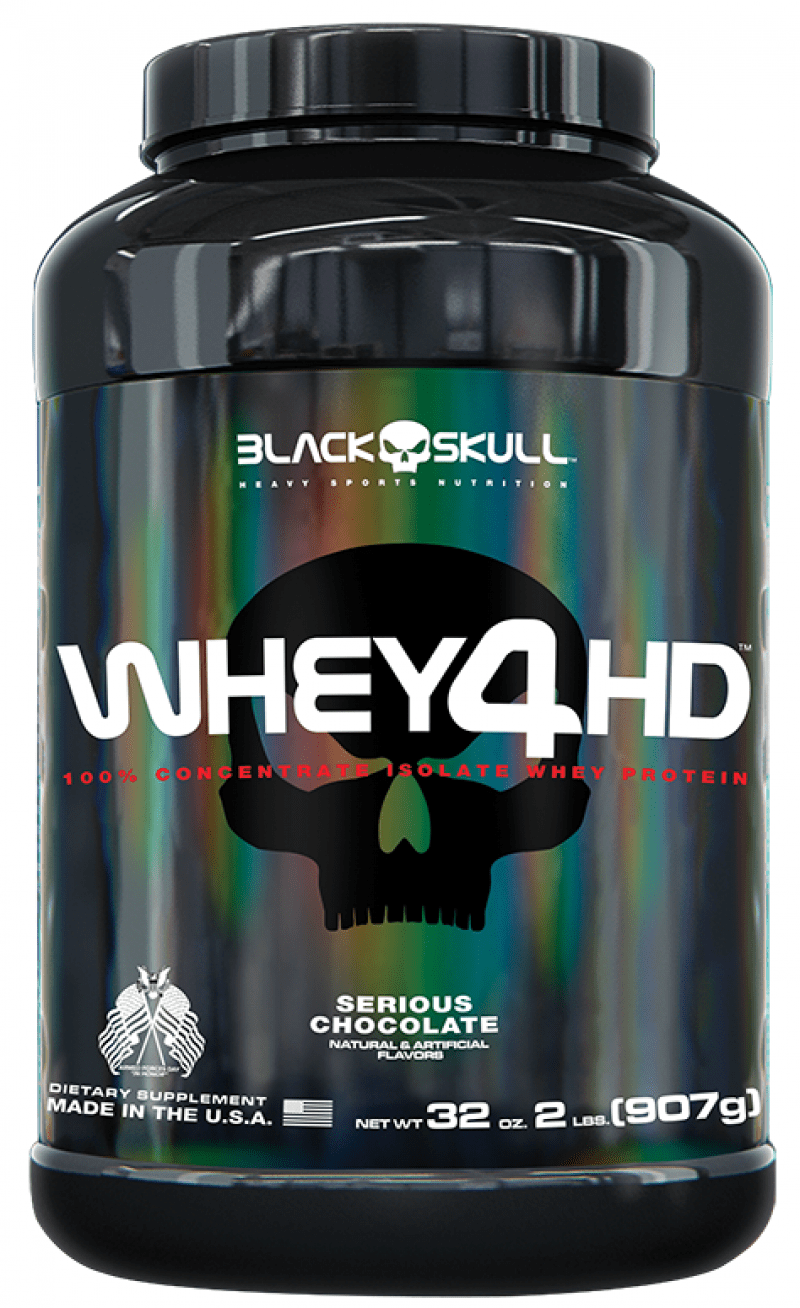 Whey 4 HD Chocolate 907g Black Skull