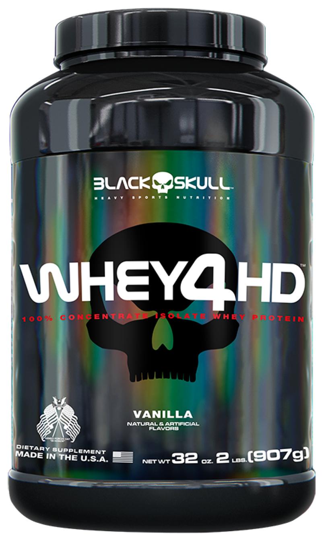 Whey 4 HD Baunilha 907g Black Skull