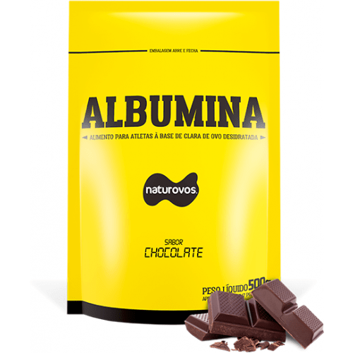 Albumina Sabor Chocolate 500g Naturovos