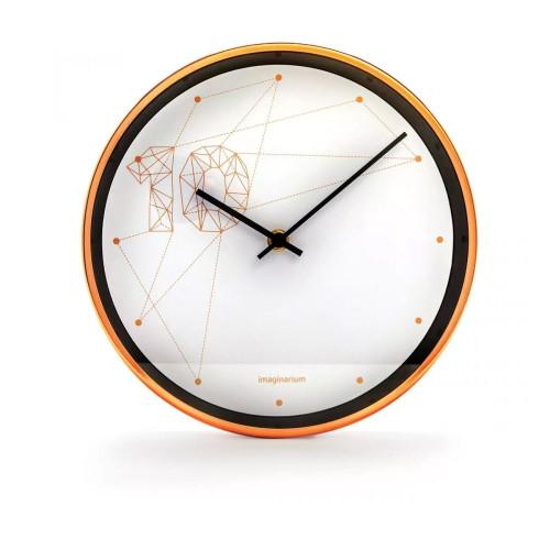 Relógio Pattern de Parede em Alumínio com Fundo Branco