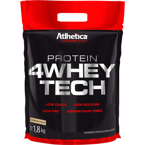 4whey Tech Sc 1,8kg Cookies Cream Atlhetica