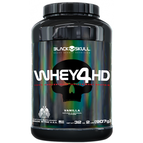 Whey 4 HD Baunilha 907g Black Skull